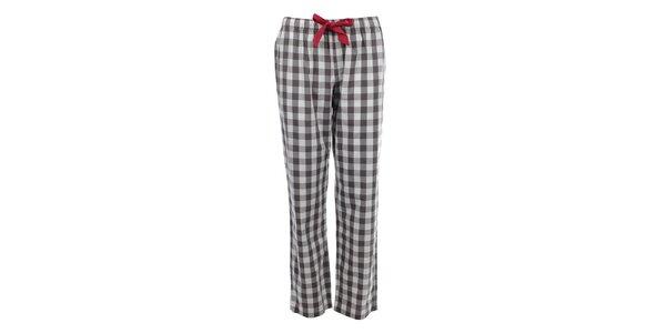 Dámske pyžamové nohavice s kockovaným vzorom a mašľou Tommy Hilfiger
