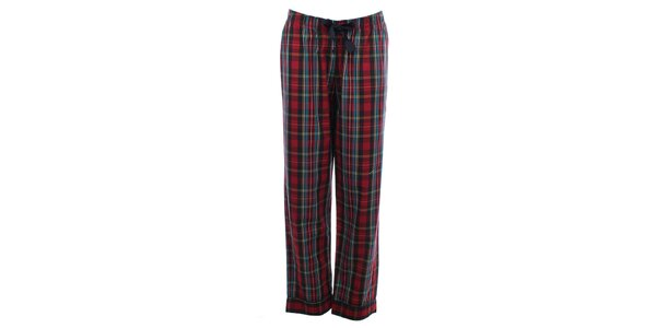 Dámske kockované pyžamové nohavice s čiernou mašľou Tommy Hilfiger