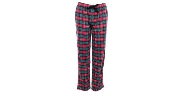 Dámske ružovo kárované pyžamové nohavice Tommy Hilfiger