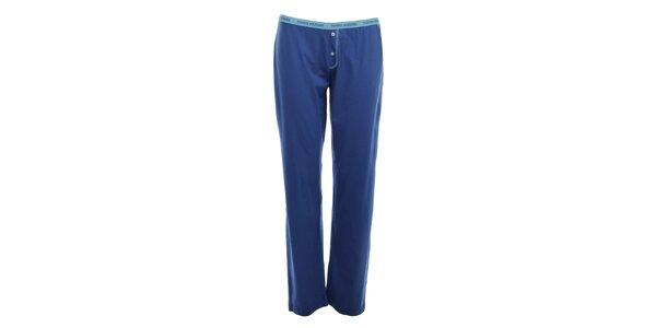 Dámske modré pyžamové nohavice s gombíkmi Tommy Hilfiger