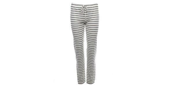 Dámske pruhované pyžamové nohavice Tommy Hilfiger