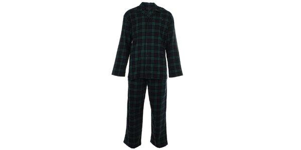 Pánske modro-zelené kárované pyžamo Tommy Hilfiger