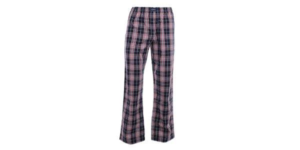 Pánske modro-červené kárované pyžamové nohavice Tommy Hilfiger