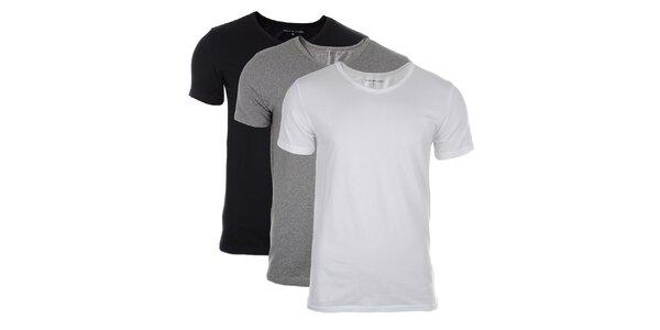 Set troch tričiek rôznej farby Tommy Hilfiger