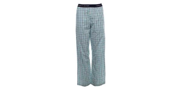 Pánske svetlo modré kárované pyžamové nohavice Tommy Hilfiger