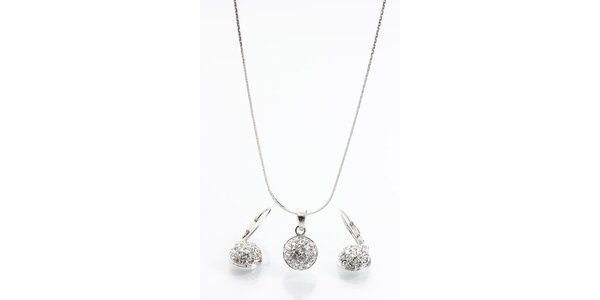 Dámsky set - okrúhle náušnice a náhrdelník Laura Bruni