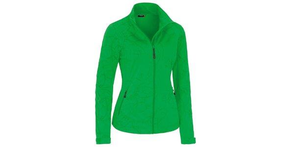 95dc577f5541 Dámska zelená softshellová bunda so vzorom Maier
