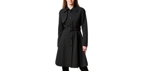 Dámsky čierny jednoradový kabát Pietro Filipi