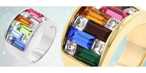 Elegantný prsteň s CZ krištáľmi