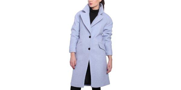 Dámsky fialkový oversized kabát Vera Ravenna