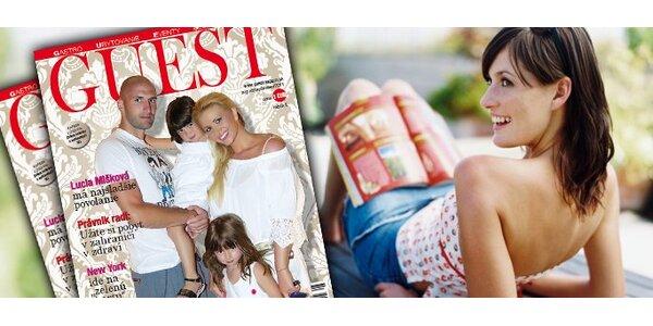 6 eur za ročné predplatné prestížneho magazínu GUEST s 50% zľavou!