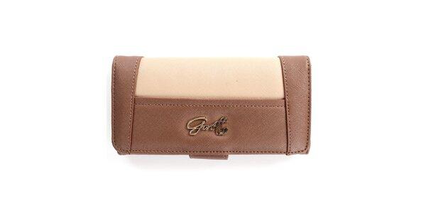 Dámska hnedo-béžová peňaženka Gorétt