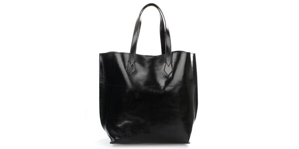 Dámska čierna lesklá taška Gorétt
