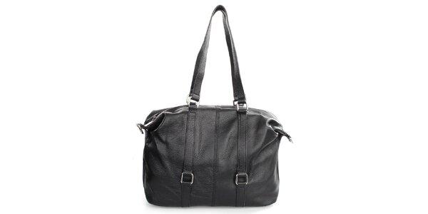 Dámska čierna kabelka na zips Gorétt