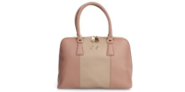 Dámska púdrovo-ružová elegantná kabelka Gorétt