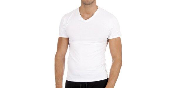Pánske biele tričko s véčkom Polo Ralph Lauren