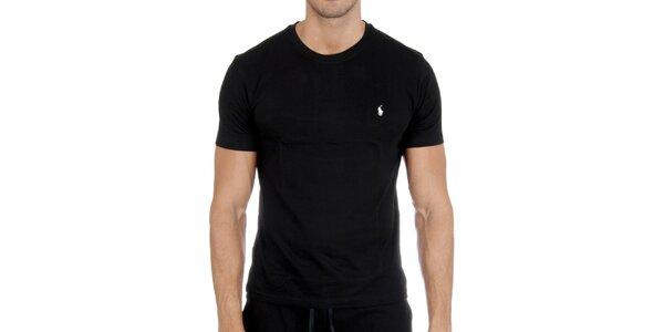 Pánske čierne tričko Polo Ralph Lauren