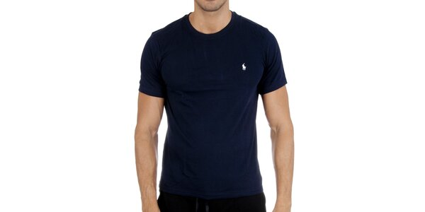 Pánske tmavo modré tričko Polo Ralph Lauren