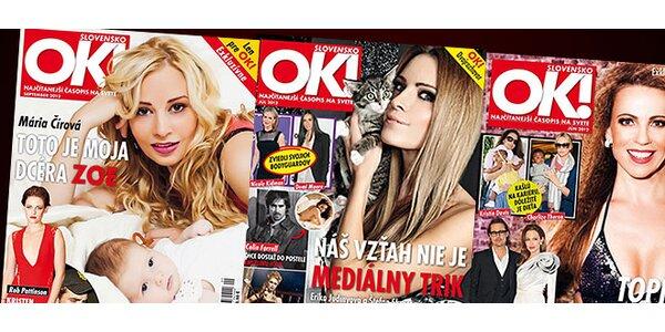Polročné predplatné OK! Magazine