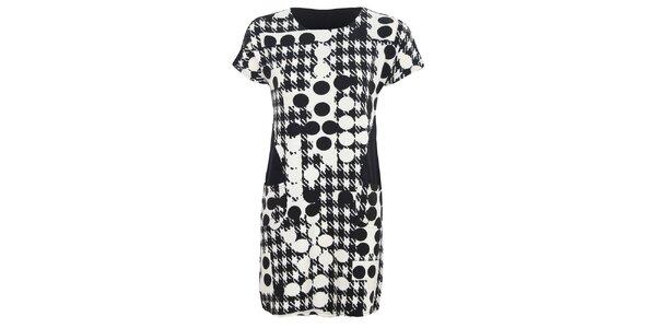 Dámske vzorované čierno-biele šaty Sugar Crisp