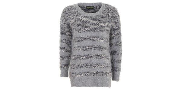Dámsky šedý chlpatý sveter Sugar Crisp