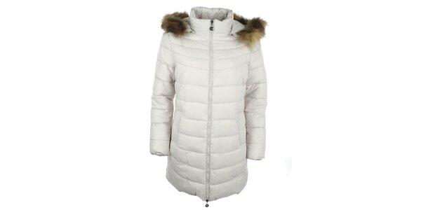 Dámsky biely kabát Fly Moda