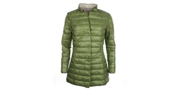 Dámsky zelený kabátik na cvočky DJ85°C