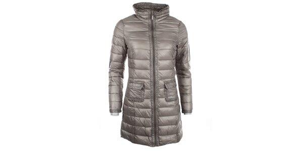 Dámsky šedý metalický kabátik DJ85°C
