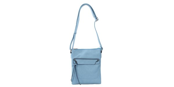 Dámska blankytno modrá kabelka Bessie