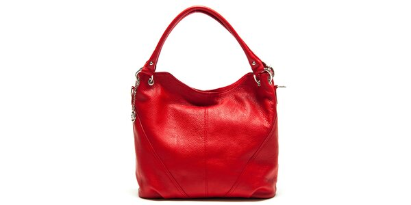 Dámska červená kabelka s dvomi ušami Roberta Minelli
