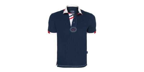 a4de65dc0523 Pánske tmavomodré polo tričko Giorgio Di Mare