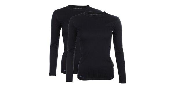 Dámsky set 2 čiernych funkčných tričiek Hannah