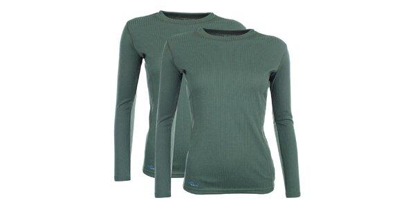 Dámsky set 2 zelených funkčných tričiek Hannah