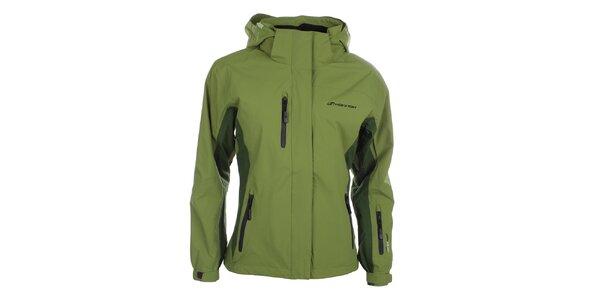 Dámska zelená bunda s kapucňou Hannah