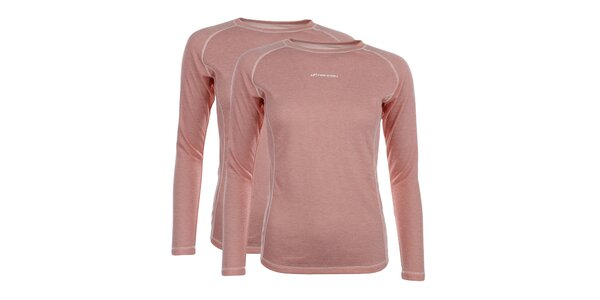 Dámsky set 2 lososových funkčných tričiek Hannah