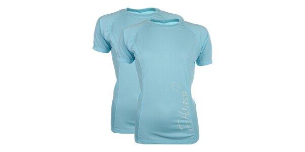 Dámska sada 2 funkčných tričiek v nebesky modrom odtieni Hannah