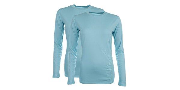 Dámska sada 2 funkčných svetlo modrých tričiek s dlhým rukávom Hannah