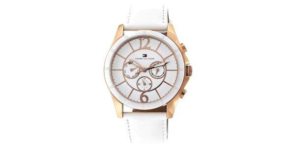Dámske elegantné keramické hodinky s koženým remienkom Tommy Hilfiger