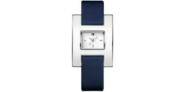Dámske oceľové hodinky s textilným remienkom Tommy Hilfiger
