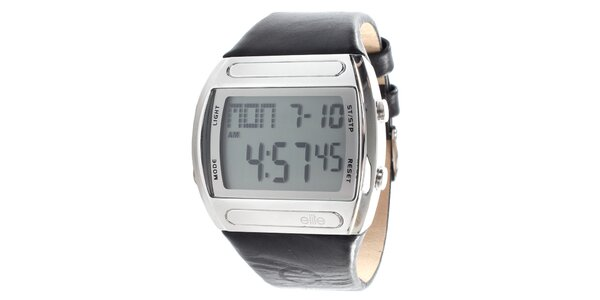 Pánske digitálne hodinky s čiernym remienkom Elite