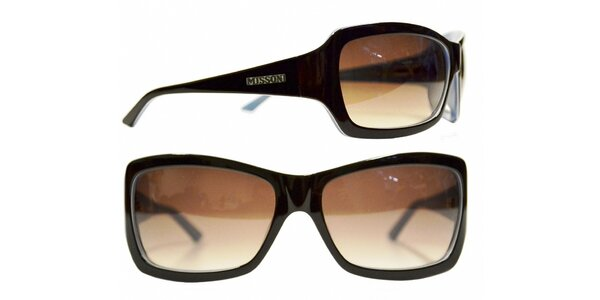 Dámske tmavo hnedé slnečné okuliare Missoni