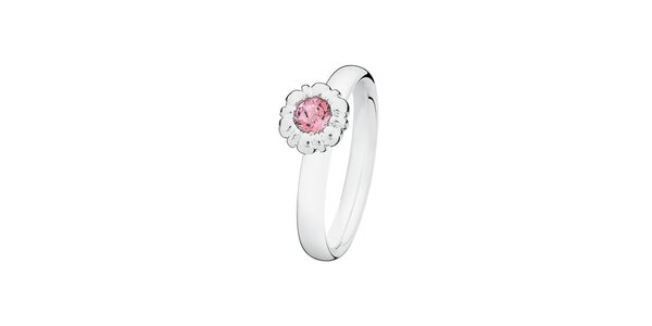 Dámsky prsteň s ružovou kvetinou Spinning