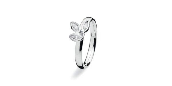 Dámsky lístočkový prsteň Spinning