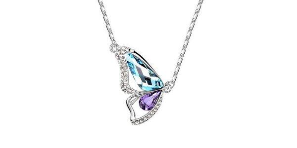 Dámsky motýlikový náhrdelník s kryštáľmi Victoria de Bastilla