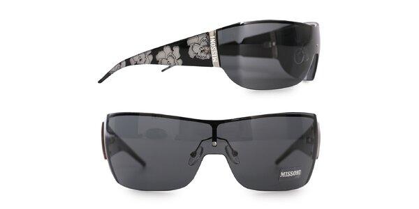 Dámske čierne slnečné okuliare Missoni so zrkadlovými sklami