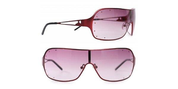Dámske červené kovové slnečné okuliare Vivienne Westwood