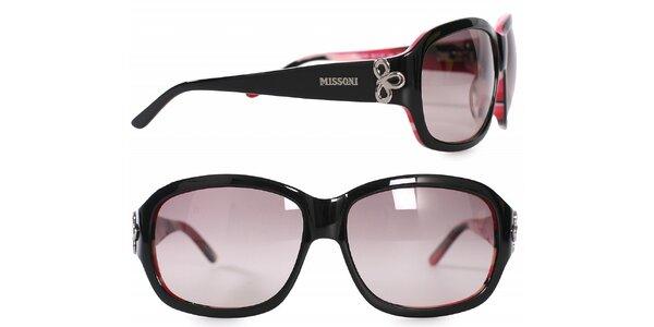 Dámske čierno-ružové slnečné okuliare Missoni
