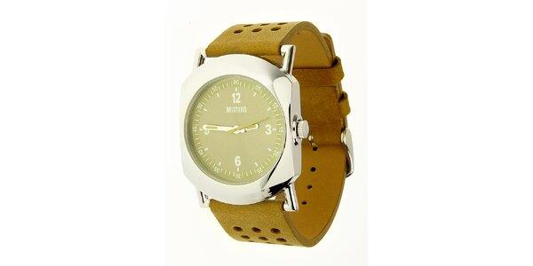 Dámske oceľové hodinky Mustang s khaki remienok 59bb4cd37e