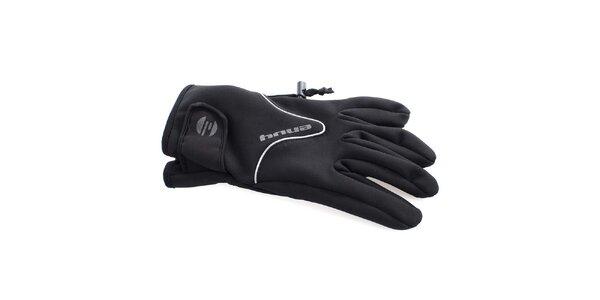 Pánske čierne športové rukavice s fleecovou podšívkou Envy