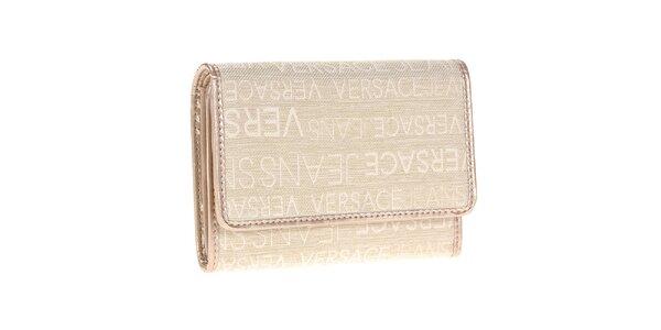 Dámska béžová peňaženka so vzorom Versace Jeans